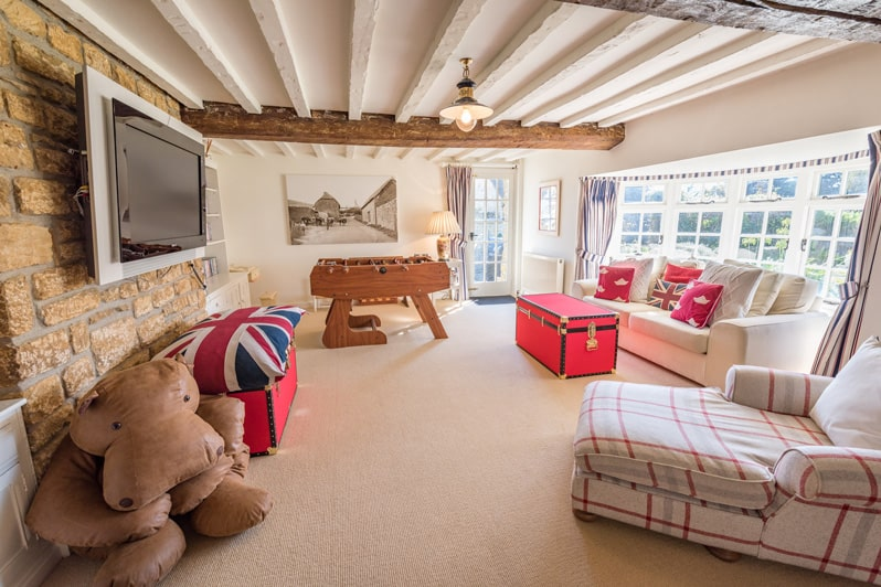 Play/Games Room at Glenacres - Luxury Holiday Cottage in Seatown, Dorset