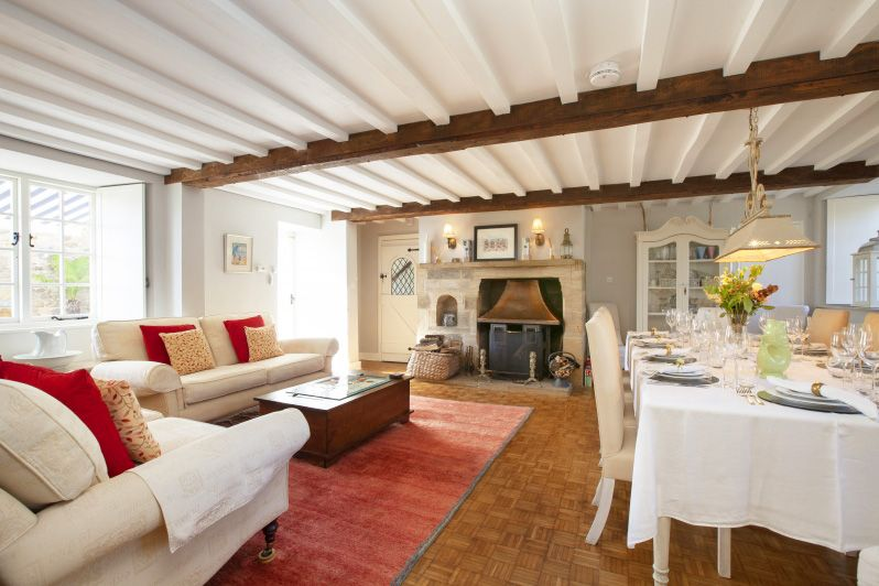 Sitting/Dining Room at Glenacres - Luxury Holiday Cottage in Seatown, Dorset